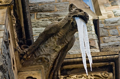 St. Patrick's Church - Forked Tongue Devil - 3-4-09 (mosley.brian) Tags: ice stone washingtondc dc washington catholic carving gargoyle explore icicle demon devil dcist stpatrickschurch forkedtongue stpatrickscatholicchurch