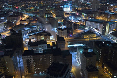 density in detroit (gsgeorge) Tags: city urban skyline night grid detroit citylights oldcity density downtowndetroit woodwardavenue urbanity woodwardplan