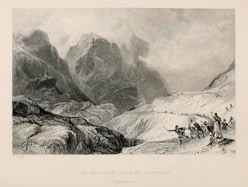 018- El paso oriental de las montañas de Glencoe