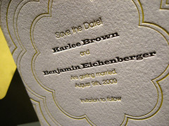 Coterie Save the Date - Closeup 2