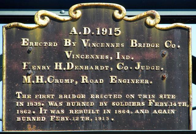 College Street Bridge Plaque