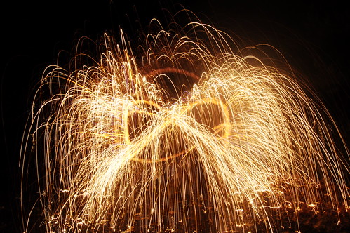 7 second exposure / f22 / ISO 200. This is just a standard long exposure of a SPARKLER in motion.