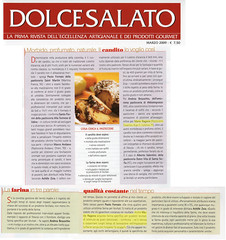 Articolo su DolceSalato Marzo 2009