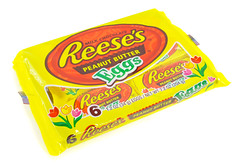 Reese's Peanut Butter Eggs covered with confusion
