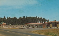 Fairmount Motel & Restaurant - Port Angeles, Washington (The Pie Shops Collection) Tags: vintage restaurant washington postcard motel portangeles fairmount us101