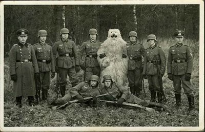 bear with soldiers