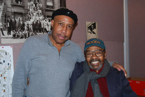 WBGO's Eulis Cathey with James Moody