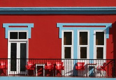 Cape Verde Colour (Heaven`s Gate (John)) Tags: africa travel cruise blue red vacation white art metal architecture chairs discovery railings capeverde saovicente mvdiscovery 10faves johndalkin heavensgatejohn capeverdecolour