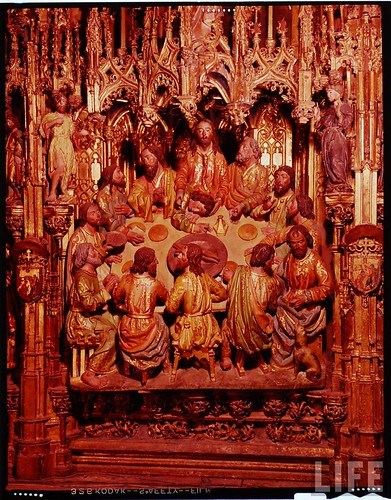 Detalle del altar mayor de la Catedral de Toledo en 1963. Fotografía de Dmitri Kessel. Revista Life (10)