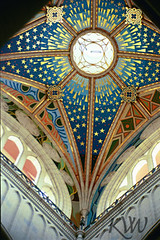 Heavenly Cross (kvwcreations) Tags: madrid sky window spain cathedral dome celing vault kvwcreationscrossreligiouschristian