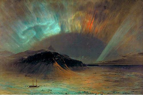 "Romantic Painting Stuart KirbyFrederick Church,  ""Aurora Borealis """