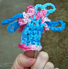 Blue/pink hat scrumble, finished