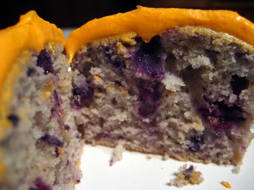 Inside Blueberry Cupcakes