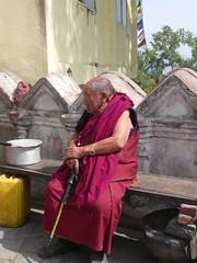 Swayambhunath, Katmandu, Nepal (balavenise) Tags: nepal shrine god buddha prayer religion monk buddhism katmandu moine swayambhunath prire devnagari  flickrgiants