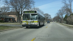 Southbound Pace bus on Harlem Avenue. Glenview Illinois . March 2009.