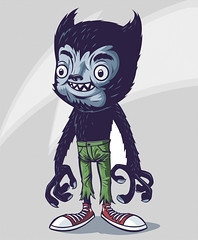 My Best Friend Is A Werewolf! (RUbensSCarelli) Tags: werewolf cartoon wolfman lobisomem rusc toyart patchtogether