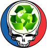 Grateful Dead Recycle Steal Your Face for Earth Day