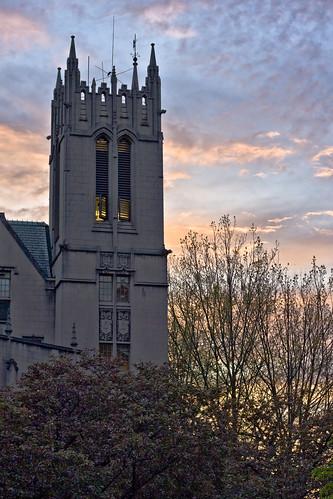 Gerberding Hall Sunset
