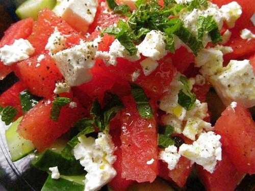 Watermelon and Feta Salad with Cucumber and Mint – Tomato Kumato