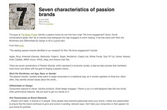 Titanium - Seven characteristics of passion brands_1241171066373