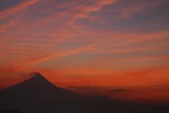 Smoking Merapi (pranav_seth) Tags: red sea colors indonesia dawn volcano yogyakarta jogjakarta borobudur merapi erruption activevolcano