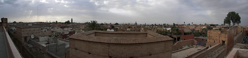 View of Marrakesh from on top of Palais Badii