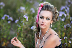 Flower Child (Extra Medium) Tags: woman girl field santabarbara model tiffany updo paidwork andmy85isrealsharp notawholelotofphotoshopsheisrealgoodwithevenlyappliedmakeup