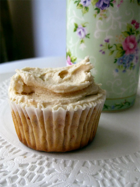Tim Tam cupcakes with Cedar Creme frosting