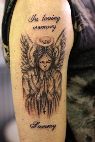 in loving memory angel tattoo