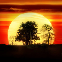 (digitalpsam) Tags: uk sunset england sun beautiful spectacular glow surreal heavenly warwickshire mywinners sammatta