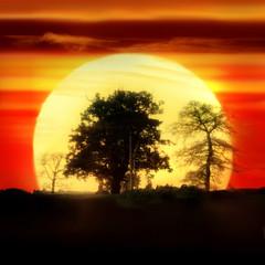 (digitalpsam) Tags: uk sunset england sun beautiful spectacular glow surreal heavenly warwickshire mywinners sammatta
