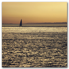 Sunset sailing - Totland Bay, Isle of Wight (s0ulsurfing) Tags: ocean light sunset shadow sea summer sky sun sunlight seascape blur art nature water silhouette composition square boats island gold golden evening bay coast boat still twilight focus warm mood skies glow quiet peace dof sundown natural artistic zoom yacht dusk horizon shoreline may silhouettes warmth peaceful calm minimal 300mm telephoto coastal shore vectis isleofwight solent sail coastline serene yachts minimalism isle 2009 minimalist newforest squared wight mellow shimmering shimmer yachting subtle totlandbay s0ulsurfing mondocafeclub