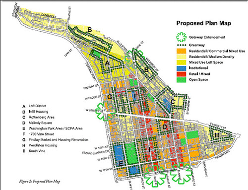 proposed land uses in OTR's comp plan (by: City of Cincinnati)