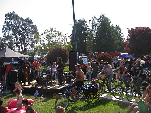 Cello Joe performs under pedal power at Maker Faire. by you.