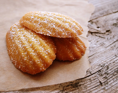Madeleines stacked