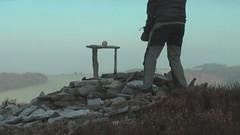 Frost Rock Balancing (escher is still alive) Tags: winter sculpture film movie sandstone frost january pebbles lancashire homage 2009 ephemeral landart naturalart enviro slabs gritstone rockbalancing andygoldsworthy pebblebalancing collpase enviroart richardshilling