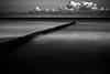 Groyne (96dpi) Tags: wood longexposure sea blackandwhite bw beach clouds strand warnemünde meer wolken baltic erosion sw schwarzweiss holz groyne ostsee rostock buhne küstenschutz hydraulicstructure