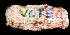 The vote (scrappy annie) Tags: workinprogress silk wip textile fiberart textileart suffrage fibreart womensissues