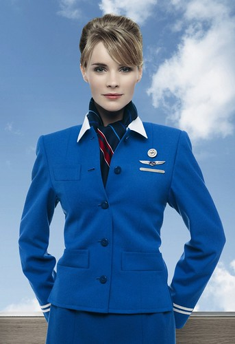 KLM stewardess by Fabird Blue, on Flickr
