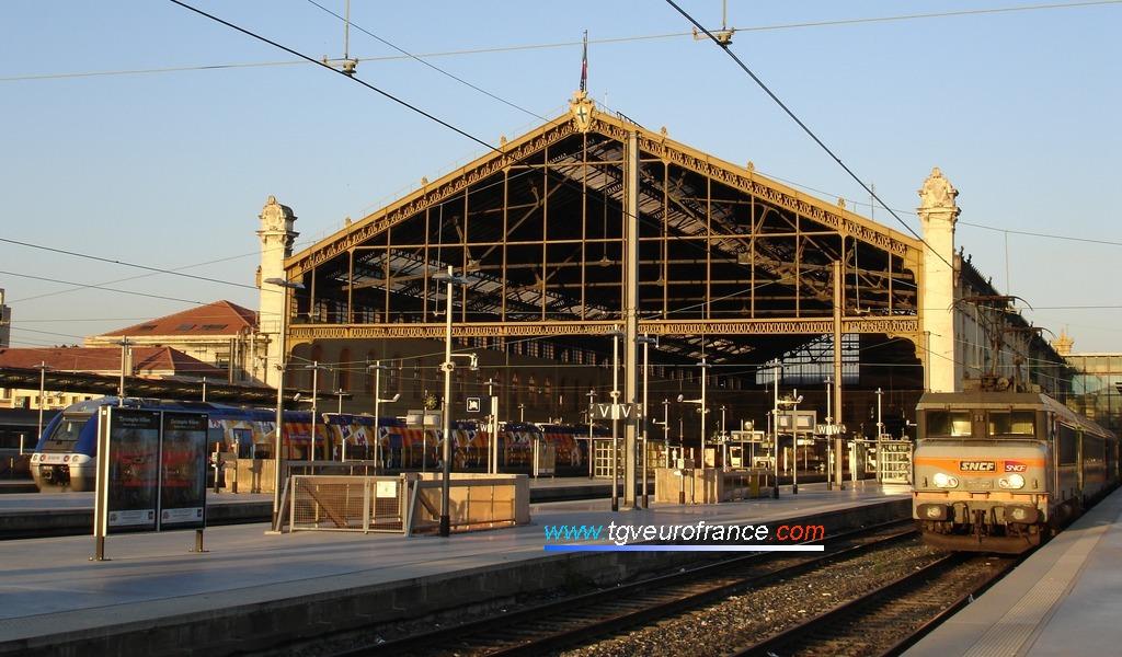 La gare marseillaise dans les Bouches-du-Rhône
