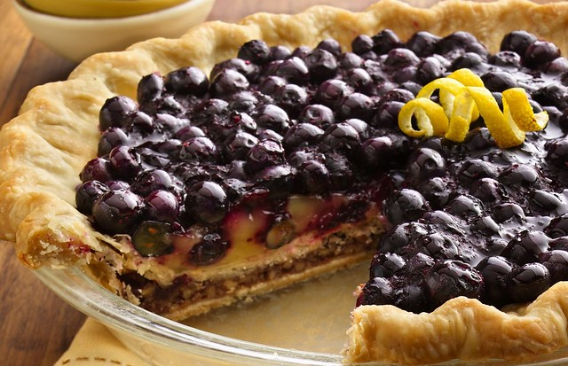 Double-Bottom Blueberry, Lemon and Pecan Pie Recipe