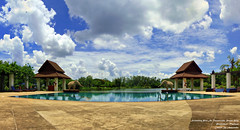 Panorama Swimming Pool At Tawalavadee Resort Hotel , Prachinburi , Thailand /   (AmpamukA) Tags: wallpaper panorama pool swimming hotel resort thai  prachinburi   ampamuka  tawalavadee