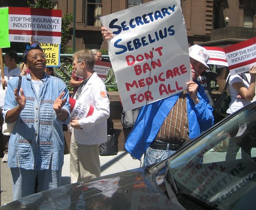 Protesting Sec Sebelius at the Fairmont, San Francisco