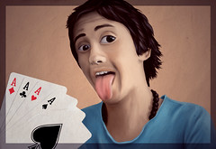 Gabriel (Giulia Marchetti) Tags: boy eye tongue pen photoshop painting hair nose paint play magic optical card lover tablet sai tool  brow         theath