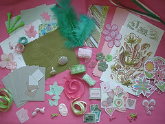 Create & Cultivate Art Kit in Pink and Green...for Children and Adults (Pictures by Ann) Tags: pink flowers summer moon inspiration flower color green eye art nature floral colors face by golf paper stars star diy eyes flora sticker hand handmade stamps lace embroidery decorative stickers feathers harvest butterflies fluffy environmental craft cardboard clay postcards ribbon kit create etsy recycle supplies melon tee inspiring brads googly floss grommets tees googlie reuse punched embroideryfloss chipboard cultivate postagestamps pastepaper artkit inchies wetonwetwatercolor handpunched harvestmoonbyhand atcblanks createcultivate