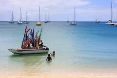 242: the fruit man! (eeicenbice) Tags: trip travel vacation beach water boats island caribbean stlucia 242 rodneybay project365 caribbeanisland grosislet thefruitman fruitman thefruitguy twohundredfortytwo