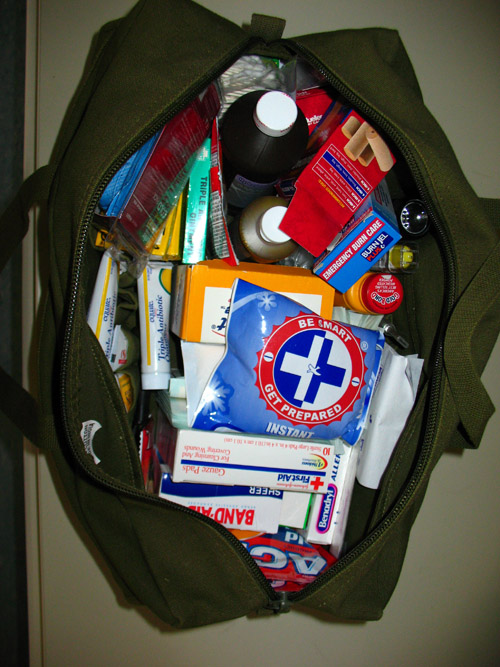 medic pack mechanics bag inside