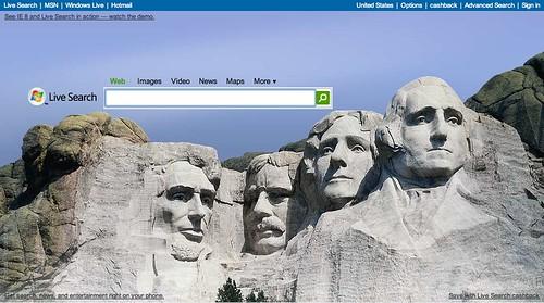Live.com President's Day Logo