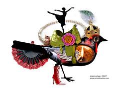 bird (Carlos N. Molina - Paper Art) Tags: bird art silhouette collage illustration digital photoshop ave carlosnmolina papergenius