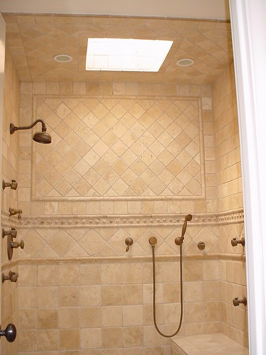Tile shower spa
